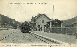 30 - Saint Jean Du Gard - Le Gard Illustré - La Gare - Saint-Jean-du-Gard