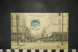 CP, 92, COURBEVOIE La Rue De Bezons Et La Place Charras N°7 Edition HS Anieres RARE Commerce Pharmacie Epicerie Guinard - Courbevoie