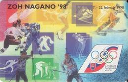 ESLOVAQUIA. ZOH - Nagano¸98. A 77, 20/97 ST. (035) - Jeux Olympiques