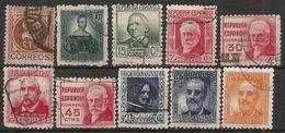 1936-1938-ED. 731 A 740 SERIE COMPLETA - CIFRAS Y PERSONAJES - USADO - 1931-Hoy: 2ª República - ... Juan Carlos I