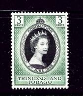 Trinidad And Tobago 84 MNH 1953 QEII Coronation - Trinidad & Tobago (...-1961)