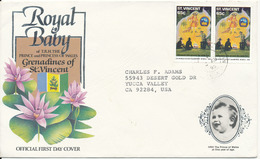 St. Vincent Cover Sent To USA 3-8-1995 With SCOUT SCOUTING Stamps - St.Vincent (1979-...)