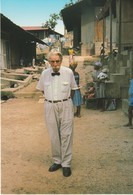 CP - PHOTO - LAMBARENE - RENCONTRE AVEC LE DOCTEUR A. SCHWEITZER  DANS SON HOPITAL EN 1964 - TROPICOLOR - A 701 K - Gabon