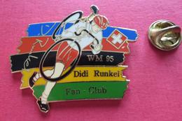 Pin's,Sport,Velo,WM 95 DIDI RUNKEL FAN-CLUB,Cycliste,Bike,SUISSE Croix - Wielrennen