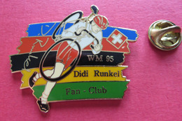 Pin's,Sport,Velo,WM 95 DIDI RUNKEL FAN-CLUB,Cycliste,Bike,SUISSE Croix - Cyclisme