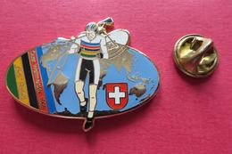 Pin's,Sport,Velo,QUER WM 95 DIDI RUNKEL,Cycliste,Bike,SUISSE Croix, - Radsport