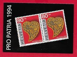 LIBRETTO SVIZZERA MNH - PRO PATRIA 1994 - 10 X 80 + 40 Cent. - Nuovi