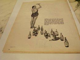 ANCIENNE PUBLICITE DOUCHE  MINERALE GAZEUSE PERRIER   1955 - Affiches