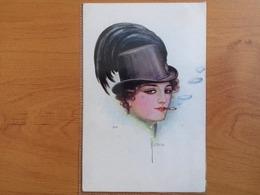 CPA - O. J. Romann - F. H. & S. W. IX. Nr. H 313 - Lady With A Hat And A Cigarette- Non Circulée - Künstlerkarten
