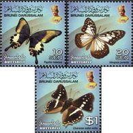 BRUNEI Courants Papillons II 3v 2014 Neuf ** MNH - Brunei (1984-...)