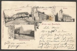 Gruss Aus Bourheim (heute Ein Stadtteil Von Jülich), Karte Aus 1903, Gestempelt Düren - Juelich