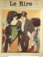 """REVUE """"LE RIRE""""-1910-412-Dessin ROUBILLE TOURAINE CAPY CARDONA GERVESE POULBOT - Books, Magazines, Comics"""