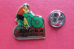 Pin's,Sport,Velo,JOLEKA TRIEBEL P.,Cycliste,Bike,Suisse,limité - Cyclisme