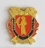 1 Pin's Sapeurs Pompiers De RUSS (BAS RHIN-67) - Pompiers