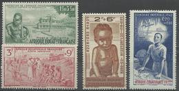 AFRIQUE EQUATORIALE FRANCAISE - AEF - A.E.F. - 1942 - YT PA 10/13** - MNH - A.E.F. (1936-1958)