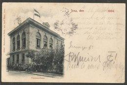Jena, Teutonenhaus. Karte Aus 1904, Nach Montpellier In Frankreich; Taxvermerk. - Jena