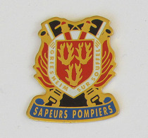1 Pin's Sapeurs Pompiers De GRIESHEIM SUR SOUFFEL (BAS RHIN-67) - Pompiers