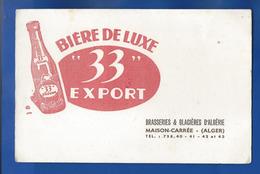 Buvard Bière De Luxe 33 Export   Brasserie- Glacières D'Algérie  Maison Carré ALGER - Liquor & Beer