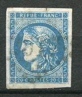 14480 FRANCE  N°45C ° 20. Bleu  Cérés  Bordeaux Type II Report 3    1870   B/TB - 1870 Ausgabe Bordeaux