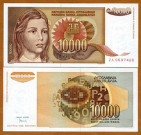 IUGOSLAVIA – 10 000 DINARA – 1992 – UNC - Joegoslavië