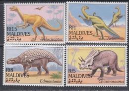 Maldives N° 1913 / 16 XX Faune Préhistorique IV : La Série Des 4 Valeurs Sans Charnière, TB - Maldives (1965-...)