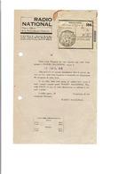 13 MARSEILLE Juillet 1942 Renouvellement D'abonnement à RADIO NATIONAL (collaboration?) 2ème Guerre Mondiale  749 - Documentos Históricos