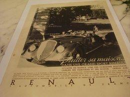 ANCIENNE PUBLICITE QUITTEZ SA MAISON VOITURE  RENAULT 1935 - Voitures