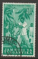 Kenya Tang 1962 Anniversary Of Independence 30 C Green SW 78 O Used - Kenya, Uganda & Tanganyika