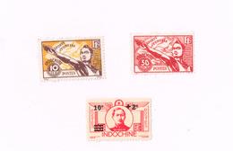 Sports Jeunesse,Do Huu (x) Emis Sans Gomme.Yvert 274,284/5 - Indochine (1889-1945)