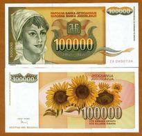 IUGOSLAVIA – 100 000 DINARA – 1993 – UNC - Joegoslavië