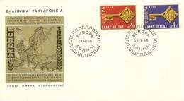 GREECE  1968  EUROPA CEPT FDC - Europa-CEPT