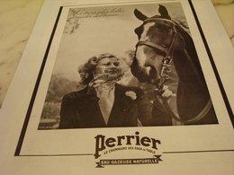 ANCIENNE PUBLICITE LES 3 PLUS BELLE CONQUETES  PERRIER 1935 - Perrier