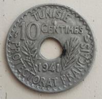 TUNISIE - 10 CENTIMES Ahmad Pasha 1941 - Zinc - KM# 267 - Tunisie