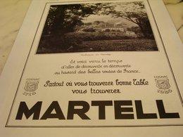 ANCIENNE PUBLICITE AUBAZINE EN CORREZE COGNAC  MARTELL 1935 - Alcools
