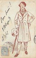 Illustrateur - N°60220 - Genre Kirchner - Homme En Redingote - Kirchner, Raphael