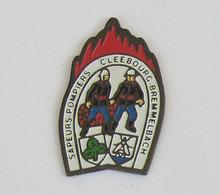 1 Pin's Sapeurs Pompiers De CLEEBOURG-BREMMELBACH (BAS RHIN-67) - Pompiers