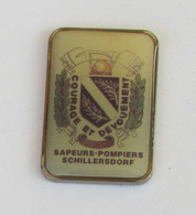 1 Pin's Sapeurs Pompiers De SCHILLERSDORF (BAS RHIN-67) - Firemen