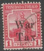 Trinidad & Tobago. 1918 War Tax. 1d Used SG 188b - Trinidad & Tobago (...-1961)
