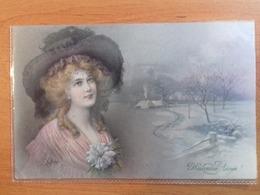 CPA -  Wichera- Heureuse Année- Femme / Lady - Chapeau/ Hat- MM Vienne - M Munk 762 - Circulée - Wichera