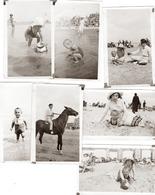 Knokke Knocke Vers 1920 /25 Très Beau Lot De 7 Photographies Scènes De Plage - Places