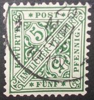 N°566B TIMBRE DEUTSCHES REICH WURTEMBERG OBLITERE - Wurttemberg