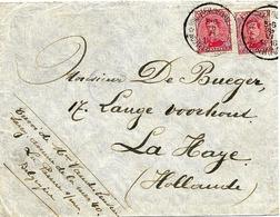 SH 0079. N° 138 (2) DEPÔT-RELAIS * HOUTHEM (VEURNE) * 26.VI.16 S/Lettre Vers La Haye. TB - Niet-bezet Gebied