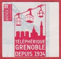 Téléphérique De Grenoble, Bastille. Depuis 1934. Isère (38). - Titres De Transport