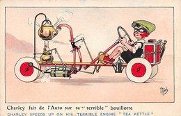 Illustrateur - N°60238 - Mich N°5 L'automobilisme En L'an 2000 - Charley Fait De L'Auto Sur Sa Terrible Bouillotte - Mich