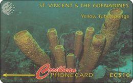 ST. Vincent & Grenadines Phonecard Shell Dive Underwater World - St. Vincent & The Grenadines