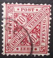 N°573B TIMBRE DEUTSCHES REICH WURTEMBERG OBLITERE - Wurttemberg