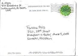 USA 2017 Global Forever Slogan Cancellation Postal History Cover Sent To Pakistan - Cartas