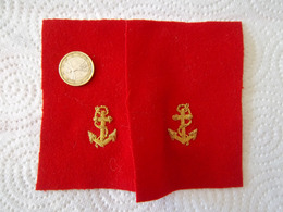Insigne Tissu Ancre De Marine - Marine