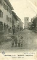 LES ROUSSES (39)  - Rue De L' Eglise Et Clocher Provisoire ( Incendie Du 19 Aout 1913) - Frankreich