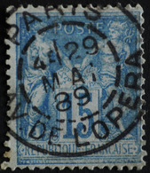 -Sage N°90 Type Ll. O .(CAD ) PARIS Av De L'Opéra.29 Mai 1889. - 1876-1898 Sage (Type II)